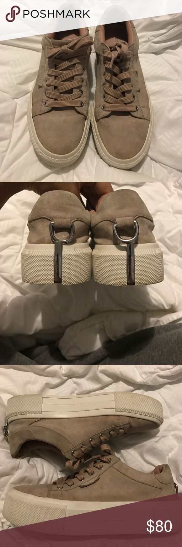 Kendall and Kylie platform sneaker Worn but still in great condition dusty rose color. I do not have the original box but will send in shoe box. Platform sneaker Kendall & Kylie Shoes