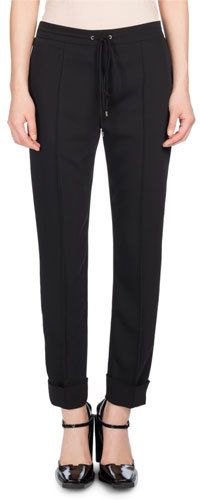 Kenzo Tailored Drawstring Jogger Pants, Black