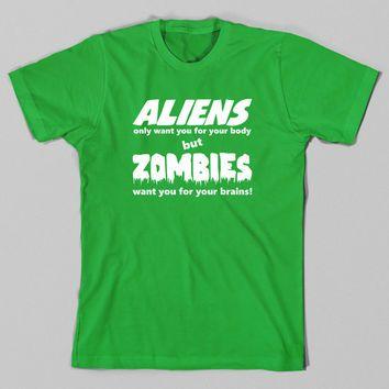 Funny T Shirt, Alien, Zombie Tshirt, Geeky Tee, Horror, Geek, Nerd, Christmas Gift, Husband, Wife, Girlfriend, Boyfriend, Nerdy, Plus Size