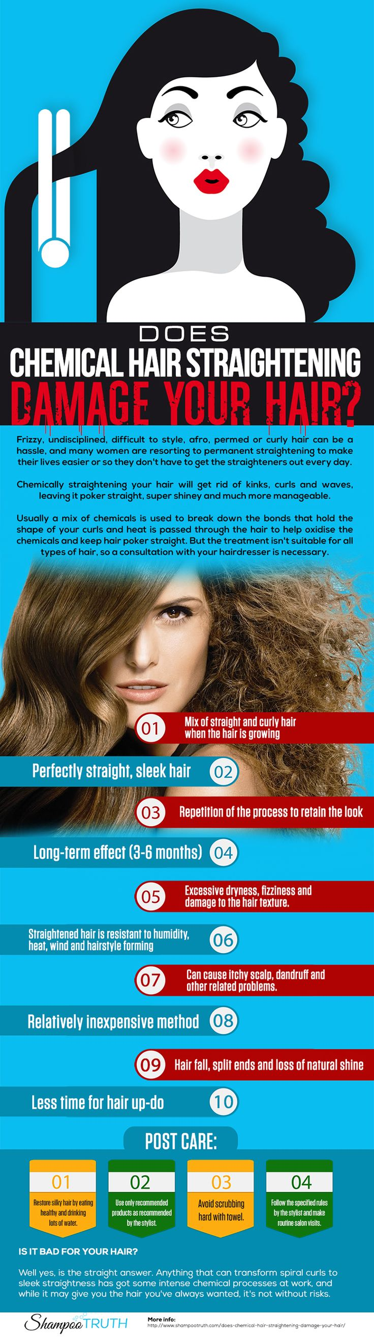 Does chemical hair straightening damage your hair? If you've been trying to figure out whether or not, you've come to the right place!