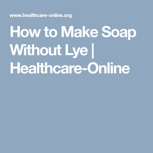 how to make homemade soap without using lye