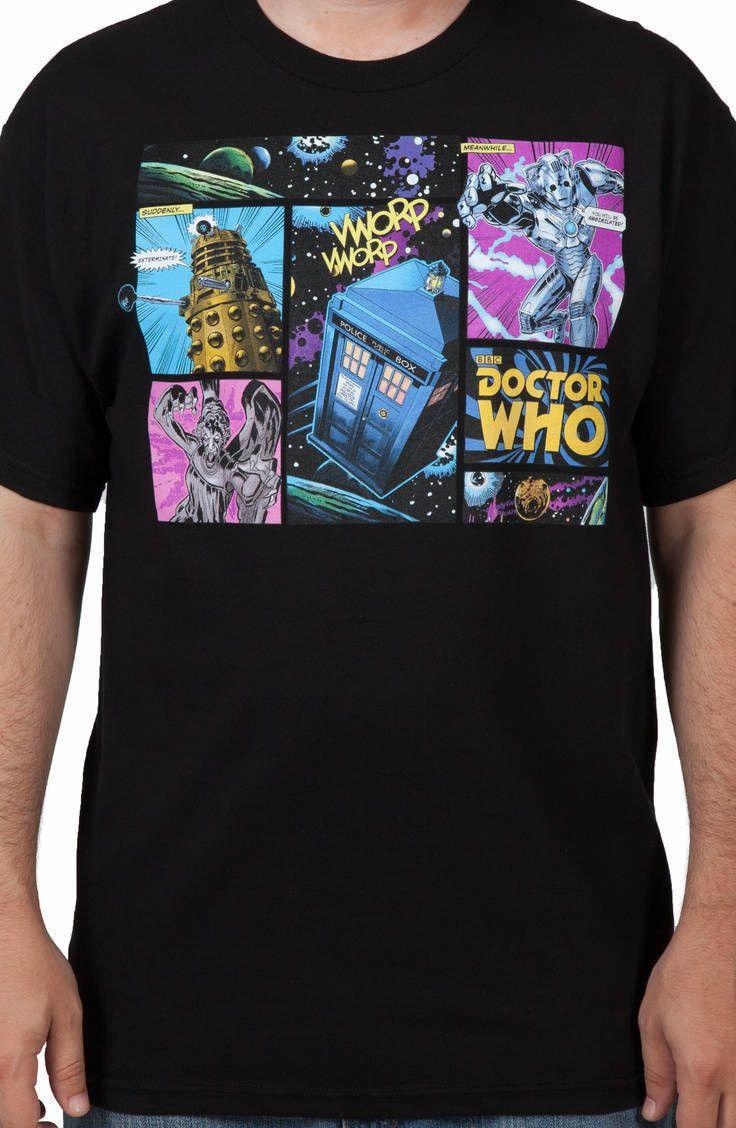 Comic Doctor Who Shirt: TV Shows Doctor Who T-shirt