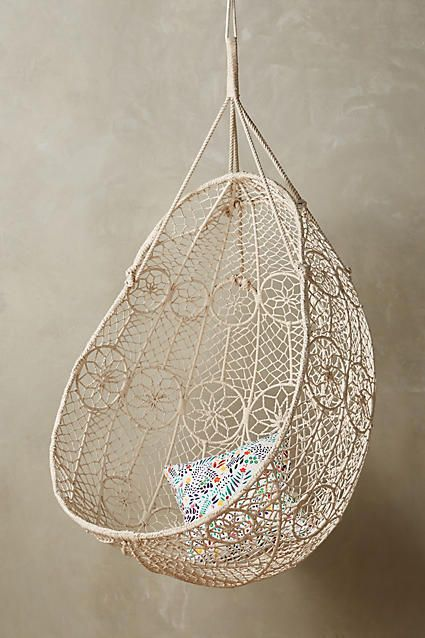 Anthropologie Knotted Melati Hanging Chair #anthroregistry