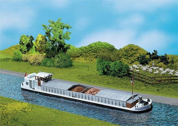 FALLER 131006 Mercantile da fiume con cabina abitabile