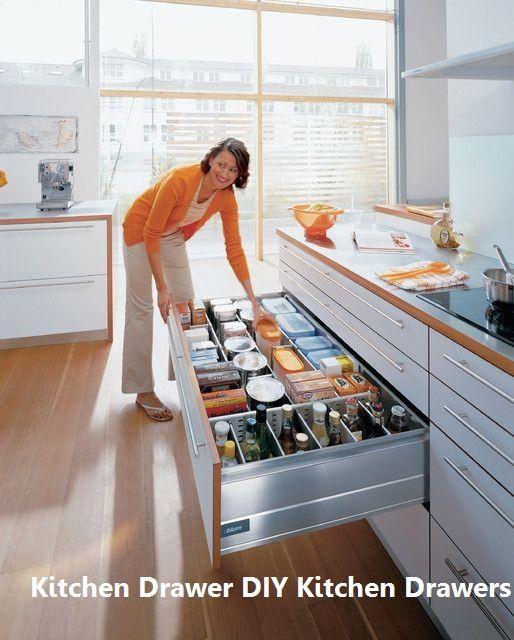 15 Incredible Kitchen Drawer DIYs: 1. Three layer drawers on hide bar ideas, hide jewelry ideas, hide tv ideas,