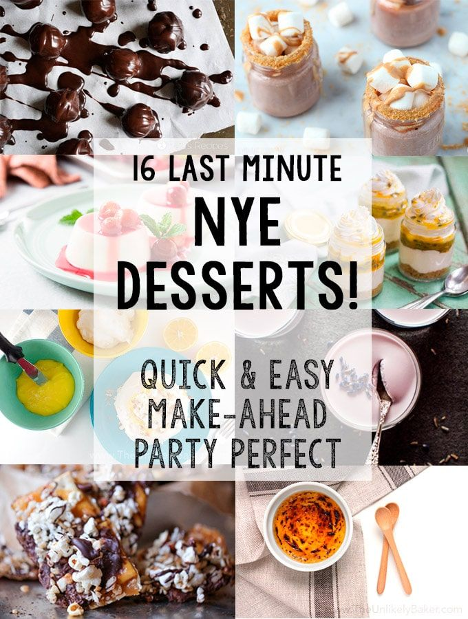New Year's Eve Desserts - great recipe and cocktail ideas!