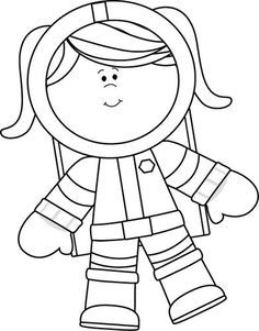 astronaut coloring Crafts and