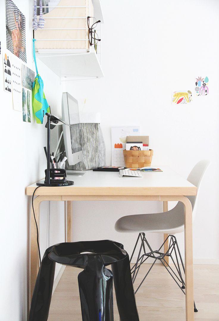 EEN bureau ontmoette honen artek touwtje Eames Stoel Hooi Marimekko ontwerp is opgebouwd blog
