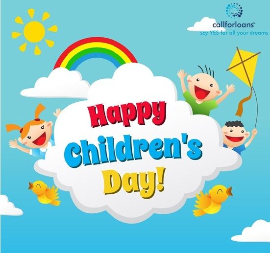 Happy#ChildrensDay  wishes from #Callforloans Team.  Bless every child and all the best for their future #dreams . Make them #smile always