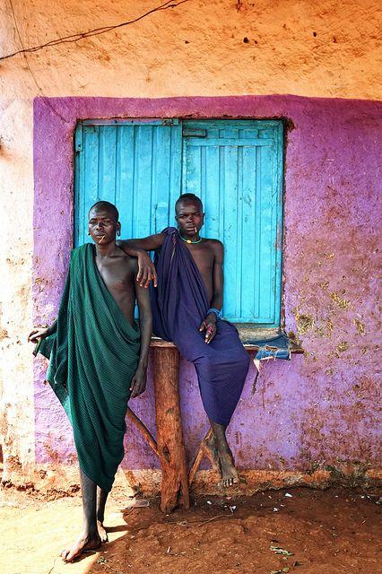 Surma Man, Ethiopia Blue Nile Falls, Ethiopia http://thesitotacollection.com/ #luxury #travel #candles