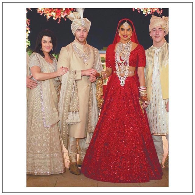 Real Bride Priyanka Chopra Priyankachopra In A Custom Red