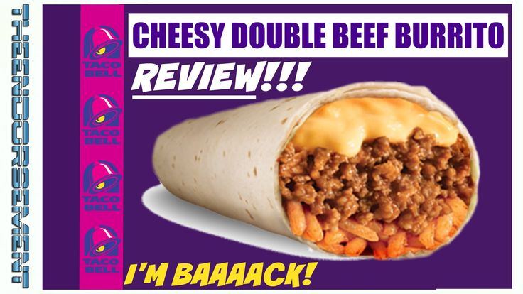 TACO BELL® CHEESY DOUBLE BEEF BURRITO REVIEW # 259