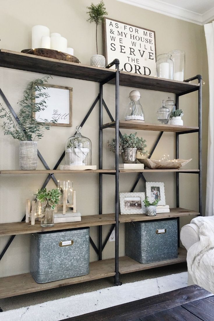 33++ Modern farmhouse bookcase ideas in 2021