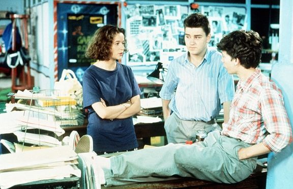 Julia Sawalha, Lee Ross and Dexter Fletcher in Press Gang, 1989-93