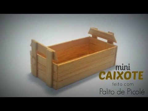 DIY │[Série Palitos de Picolé] 1 - Baú (Chest stick popsicle) - Cristiane Mendes…