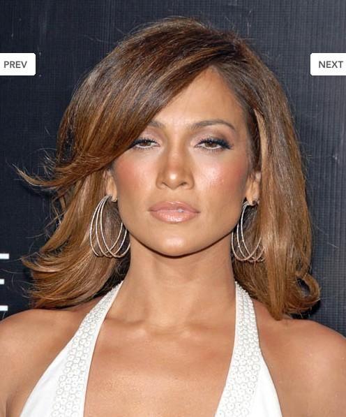 Beautiful Short Brown Female Celebrity Hairstyle 100% Human Hair