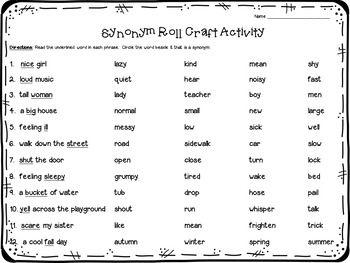 Synonyms Craftivity Craftivity Synonym Creative Bulletin Boards