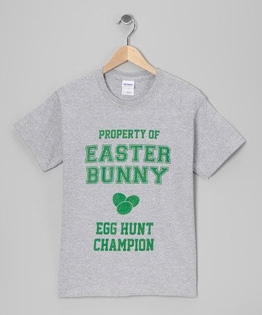 Take a look at this Heather Gray 'Egg Hunt Champion' Tee - Toddler & Kids by Easter Goodies: Apparel Under $20 on @zulily today!