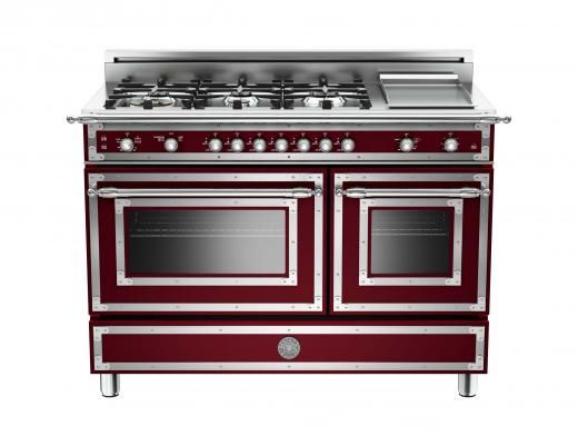 48 6-Burner + Griddle, Gas Double Oven | Bertazzoni