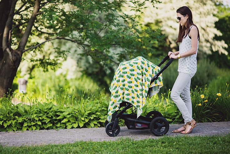 bamboo swaddles, pineapple print designed by Pink No More   www.pinknomore.pl