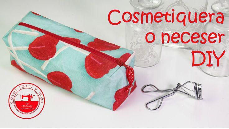 Cómo coser un neceser, cosmetiquera o valisette cuadrados
