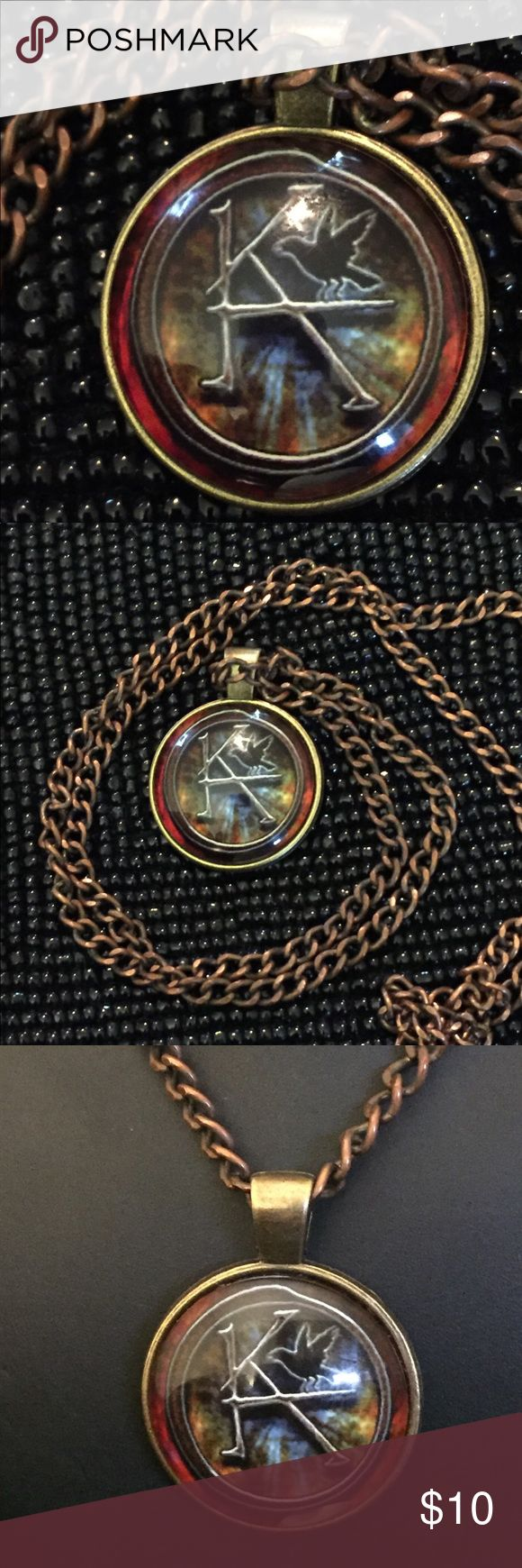 "Cult Of Personality, KA Necklace The Dark Tower Emporiama's Cult Of Personality, KA Pendant Necklace; The Dark Tower.  These Pendants Are A Glass Cabachon Set In Bronze Metal.   They Measure 1"" In Diameter.  The Chain Measures 22"" In Length And Is Fully Adjustable.   New With Tags.   There Are Three Of These Available. Emporiama Accessories Jewelry"