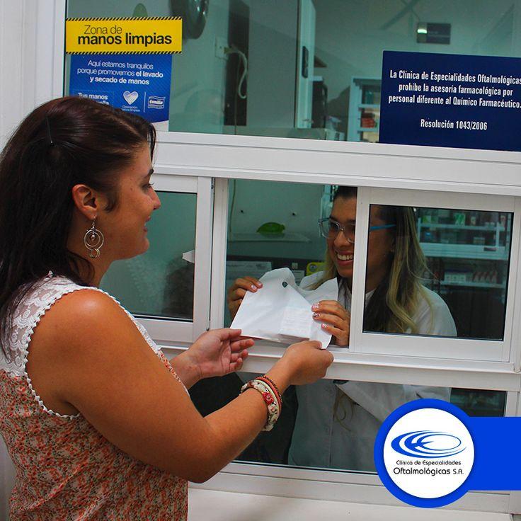 En nuestra Farmacia te ofrecemos todos los suministros para la salud de tus ojos. Para más información comunícate al (4) 448 0408 Ext. 106 www.ceomedellin.com