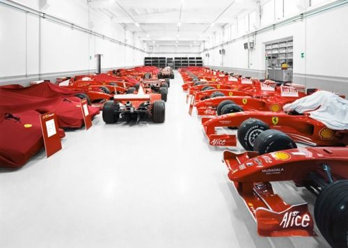 Ferrari F1 Garage. Can you get to the other end without wetting your pants?!