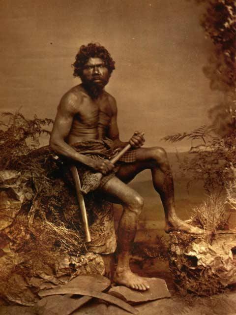 Aboriginal man, Australia, 1873