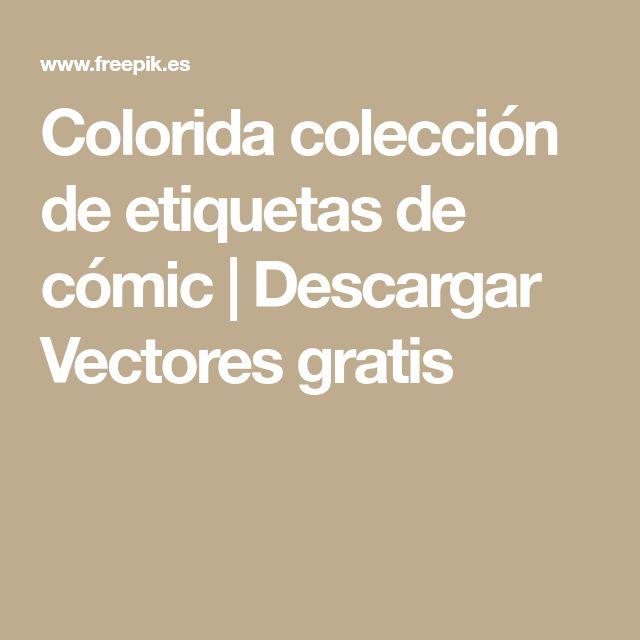 Colorida colección de etiquetas de cómic | Descargar Vectores gratis