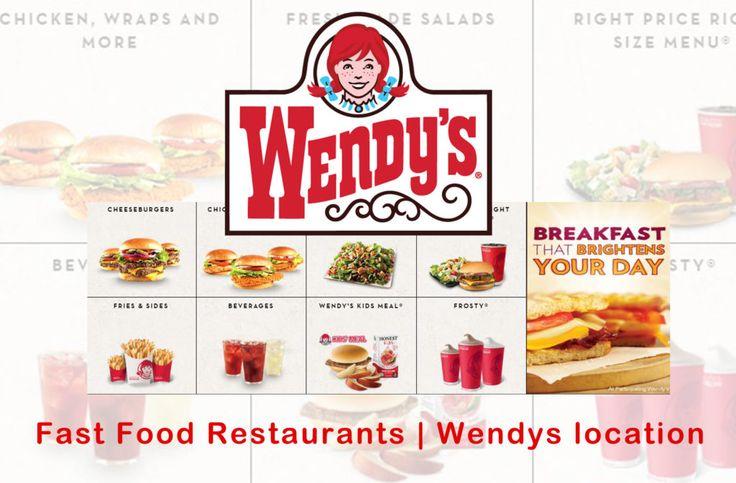 Wendys - Fast Food Restaurants | Wendys location - TrendEbook