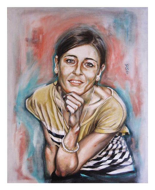 Riccardo_Soloperto/ Alessandra - Oil on canvas - 40cmx50cm