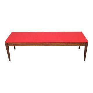 Mid-Century Modern Red Coffee Table