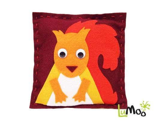 Sew Your Own Squirrel Cushion Kit from LuMoo.