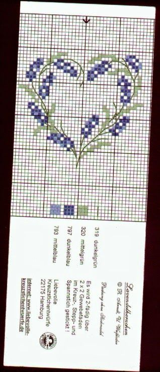 Ricami, lavori e centinaia di schemi a punto croce di tutti i tipi, gratis: Qualche schema a punto croce dedicati alla lavanda