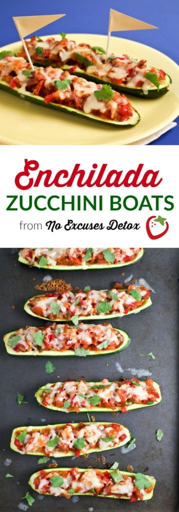 Enchilada-Stuffed Zucchini Boats | Vegetarian Dinner | Super Healthy Kids | Food and Drink