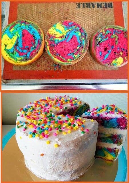 Comme une envie de couleur aujourd'hui! http://sweetycake77.blogspot.fr/2014/04/rainbow-cake.html