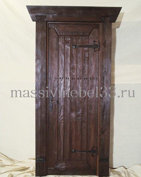 Мебель на заказ в Москве из сосны,дуба:Дверь деревянная входная с коробкой цена