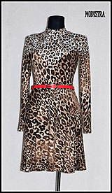 Šaty - Úpletové šaty z tigra - 7876931_