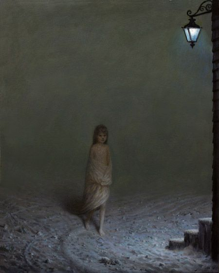 Aron Wiesenfeld (American: 1972 - ) | THE SETTLERS | oil on canvas, 24.5 x 19.5 inches, 2012