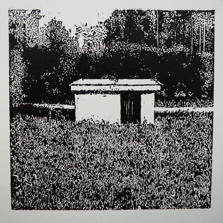 Soblahovská 1171-2 Keramoprojekt [printmaking, cutting into MDF]  #printmaking #woodcut #bunker #art