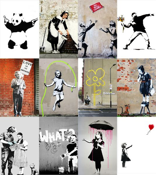 167 best banksy streetart leinwand und poster drucke images on pinterest berlin berlin. Black Bedroom Furniture Sets. Home Design Ideas