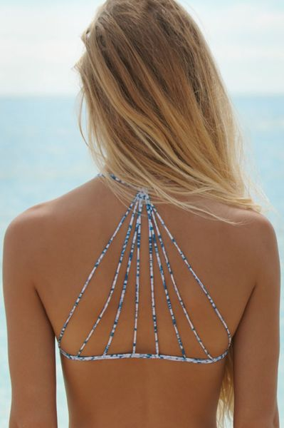 Loving the back on this Mikoh Swimwear bikini top