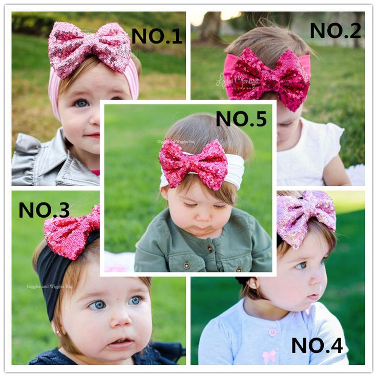 5 PCs Hot Sale Baby Children Hair Wear For Kids Head Band Girl Sequins Bow Hairband Headband Baby Hair Accessories Wholesale