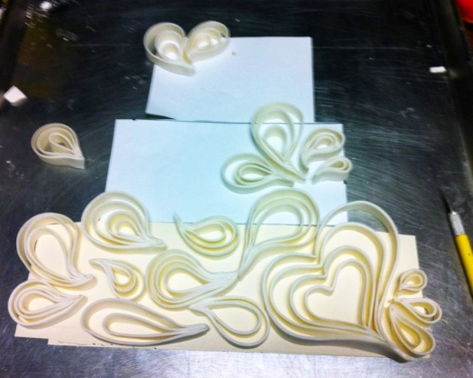 Cakes « Tiffany MacIsaac   Open Kitchen    Quilling pattern /fondant or gumpaste
