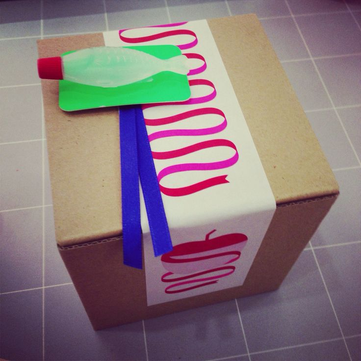 soy source bottle , pop card, ribbon, craft box #wrapping #ラッピング