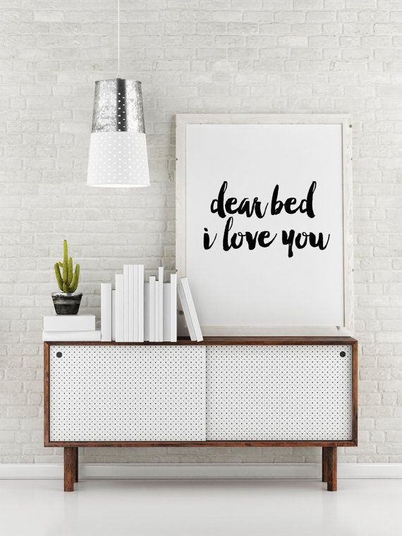 Printable poster  Dear bed I love you Bedroom decor Funny Best 25 artwork ideas on Pinterest Large
