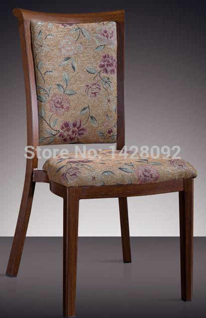 Madera imitado de aluminio sillas de comedor para hoteles restaurantes eventos LQ-L806
