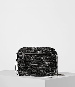 ALLSAINTS Fleur De Lis Tweed Crossbody. #allsaints #bags #crossbody #leather #lining #shoulder bags #nylon #cotton #