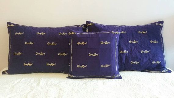 This listing is for a Set of 2 Custom Made to Order Crown Royal Pillow Shams. They can be made in any pattern to match your Crown Royal Quilt. They make a great gift for the avid crown royal drinker in your life.  ***These Pillow Shams are NOT pre-made. They will be made to order once this listing is purchased and I have confirmed the pattern you have chosen. Please allow 3 weeks for pillow shams to be made.***  Prices for Crown Royal Pillow Shams are as follows:  Set of 2 Standard Size…
